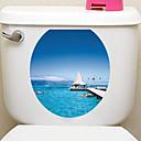 رخيصةأون ملصقات الحائط-لواصق حائط مزخرفة لواصق المرحاض - ملصقات الحائط الحيوان حيوانات 3D غرفة الجلوس غرفة النوم دورة المياه مطبخ غرفة الطعام غرفة دراسة / مكتب