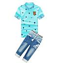 povoljno Kompletići za dječake-Djeca Dječaci Aktivan Print Kratkih rukava Poliester Komplet odjeće Plava 140