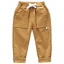 ieftine Pantaloni Băieți-Bebelus Băieți De Bază Mată Bumbac Pantaloni / Copil