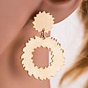 זול עגילים אופנתיים-בגדי ריקוד נשים טבעות חישוקים - סופגניות, Gear קלסי, ארופאי זהב / כסף עבור יומי / משרד קריירה