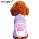זול בגדים לכלבים-כלבים / חתולים / חיות מחמד טי שירט בגדים לכלבים דפוס / ציטוטים ואמירות / אנימציה סגול / ורוד כותנה תחפושות עבור חיות מחמד זכר יום