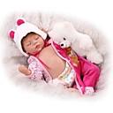 preiswerte Lebensechte Puppe-NPKCOLLECTION NPK-PUPPE Lebensechte Puppe 22 Zoll Ganzkörper Silikon Silikon - Neugeborenes lebensecht Kindersicherung Non Toxic Handaufgetragene Wimpern Gekippte und versiegelte Nägel Kinder Unisex