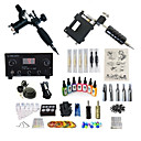 cheap Tattoo Power Supplies-Tattoo Machine Starter Kit - 2 pcs Tattoo Machines with 7 x 15 ml tattoo inks, Professional, Kits LED power supply Case Not Included 2 rotary machine liner & shader