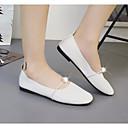 preiswerte Backformen-Damen Schuhe PU Frühling Komfort Flache Schuhe Flacher Absatz Weiß / Beige / Hellbraun