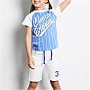tanie Sukienki dla dziewczynek-Dzieci Unisex Podstawowy Kolorowy blok Krótki rękaw Poliester Komplet odzieży Czarny 100