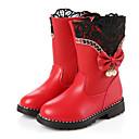 ieftine Pantofi Fetițe-Fete Pantofi PU Iarnă Confortabili / Cizme la Modă Cizme pentru Negru / Rosu / Roz / Cizme / Cizme la Gleznă