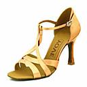 preiswerte Plätzchen-Werkzeuge-Damen Schuhe für den lateinamerikanischen Tanz / Ballsaal Satin Absätze Maßgefertigter Absatz Maßfertigung Tanzschuhe Gelb / Fuchsia /