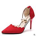 preiswerte Modische Armbänder-Damen Schuhe PU Sommer Komfort High Heels Stöckelabsatz Rot / Grün / Rosa
