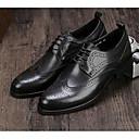 tanie Oksfordki męskie-Męskie Komfortowe buty Skóra bydlęca Jesień Oksfordki Czarny / Brązowy