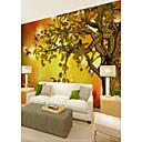 baratos Murais de Parede-papel de parede / Mural Tela de pintura Revestimento de paredes - adesivo necessário Árvores / Folhas / Padrão / 3D
