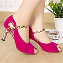 preiswerte Hochzeit Schals-Damen Schuhe für den lateinamerikanischen Tanz Nubukleder Absätze Stöckelabsatz Tanzschuhe Fuchsia / Blau / Leistung / Leder / Praxis