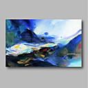 tanie Obrazy olejne-Hang-Malowane obraz olejny Ręcznie malowane - Abstrakcja / Krajobraz Nowoczesne Brezentowy / Rozciągnięte płótno