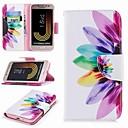 ieftine Cazuri telefon & Protectoare Ecran-Maska Pentru Samsung Galaxy J7 (2017) / J2 PRO 2018 Portofel / Titluar Card / Cu Stand Carcasă Telefon Floare Greu PU piele pentru J7 (2017) / J7 (2016) / J7