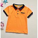 abordables Servicios de Mesa-Bebé Chico Un Color Manga Corta Camiseta