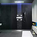 זול ברזים למקלחת-ברז למקלחת - עכשווי כרום מערכת למקלחת שסתום קרמי