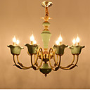 cheap Chandeliers-ZHISHU 8-Light Candle-style Chandelier Uplight - Adjustable, Candle Style, 110-120V / 220-240V Bulb Included / 15-20㎡