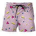 זול נעלי בית וכפכפים לגברים-מכנסי שחייה קולור בלוק חלקים תחתונים בגדי ריקוד גברים