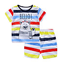 ieftine Set Îmbrăcăminte Băieți Bebeluși-Bebelus Unisex Activ Imprimeu / Curcubeu Imprimeu Manșon scurt Bumbac Set Îmbrăcăminte / Copil