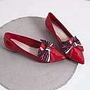 baratos Clutches & Bolsas de Noite-Mulheres Sapatos Pele Napa / Pele Primavera / Outono Conforto Rasos Sem Salto Preto / Vermelho / Verde Escuro