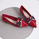 cheap Women's Flats-Women's Nappa Leather / Cowhide Spring / Fall Comfort Flats Flat Heel Black / Red / Dark Green