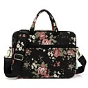 "cheap Laptop Bags-Canvas Floral Print Handbags / Shoulder Bag 15"" Laptop / 14"" Laptop / 13"" Laptop"