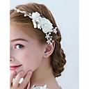 رخيصةأون مجوهرات الشعر-كل الفصول أبيض أحمر أمشاط للشعر ورد نسائي-دانتيل شريطة / قماش / سبيكة