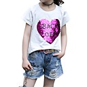 baratos Adesivos de Parede-Infantil Para Meninas Retalhos Manga Curta Camiseta