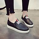 ieftine Mocasini de Damă-Pentru femei Pantofi PU Primăvară Confortabili Mocasini & Balerini Toc Drept Alb / Negru