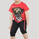 tanie Zestawy ubrań dla chłopców-Brzdąc Dla chłopców Aktywny / Podstawowy Sport / Szkoła Nadruk Krótki rękaw Bawełna Komplet odzieży