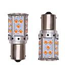 رخيصةأون إضاءات إشارات السيارات-2pcs 1156 سيارة / دراجة نارية لمبات الضوء 35W SMD 3030 2800lm 35 LED ضوء إشارة اللف / ضوء النهار For المحركات العامة المحركات العامة كل