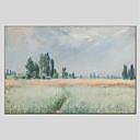 levne Krajiny-Hang-malované olejomalba Ručně malované - Květinový / Botanický motiv Moderní Obsahovat vnitřní rám / Reprodukce plátna