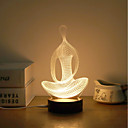 baratos Humidificadores-1conjunto Luz noturna 3D Branco Quente USB Criativo / O stress e ansiedade alívio / Decoração 5V