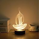 billige Veggklistremerker-1set 3D nattlys Varm hvit Usb Kreativ / Stress og angst relief / Verneutstyr 5 V