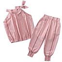 billige Pigekjoler-Børn Pige Ensfarvet Uden ærmer Tøjsæt