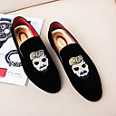 cheap Men's Slip-ons & Loafers-Men's Formal Shoes Suede Fall Loafers & Slip-Ons Black / Red