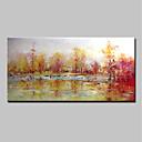 levne Krajiny-Hang-malované olejomalba Ručně malované - Abstraktní Krajina Moderní Obsahovat vnitřní rám / Reprodukce plátna