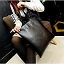 cheap Totes-Women's Bags PU(Polyurethane) Tote Pattern / Print Black / Coffee / Wine