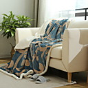 cheap Blankets & Throws-Plush, Jacquard Geometric Polyester / Acrylic Fibers Blankets