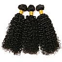 זול סט תכשיטים-3 חבילות שיער הודי מתולתל שיער אנושי תוספות שיער משיער אנושי צבע טבעי שוזרת שיער אנושי extention תוספות שיער אדם כל