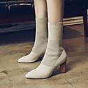 preiswerte Damen Heels-Damen Schuhe Kaschmir Winter Komfort Stiefel Blockabsatz Schwarz / Beige / Armeegrün