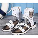 ieftine Sandale Bărbați-Bărbați Piele Vară Sportiv / Confortabili Sandale Alb / Negru