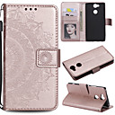 cheap Cell Phone Cases & Screen Protectors-Case For Sony Xperia L2 Xperia L1 Card Holder Wallet Flip Full Body Cases Flower Hard PU Leather for Sony Xperia Z3 Sony Xperia Z5 Xperia