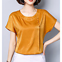 cheap Totes-Women's Plus Size Blouse - Solid Colored / Satin