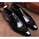 ieftine Oxfords Bărbați-Bărbați Pantofi de confort Piele Primăvară Oxfords Negru / Vișiniu