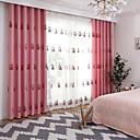 preiswerte Gardinen-Vorhänge drapiert Wohnzimmer Blumen 100% Polyester Kunstleinen Stickerei