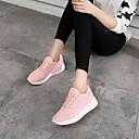 זול סניקרס לנשים-בגדי ריקוד נשים טול סתיו נוחות נעלי ספורט שטוח בוהן עגולה לבן / שחור / ורוד