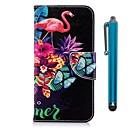 ieftine Cazuri telefon & Protectoare Ecran-Maska Pentru Huawei P20 / P20 lite Portofel / Titluar Card / Cu Stand Carcasă Telefon Flamingo Greu PU piele pentru Huawei P20 / Huawei