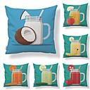 baratos Gargantilhas-6 pçs Téxtil / Algodão / Linho Fronha, Art Deco / Contemporâneo / Estampado Fruta / Forma Quadrada