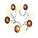 tanie Taśmy świetlne LED-1.5 m Łańcuchy świetlne 10 Diody LED Dip LED Ciepła biel Dekoracyjna Zasilanie bateriami AA 1 szt.