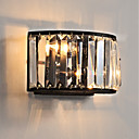 cheap Ceiling Lights-Crystal / Mini Style Traditional / Classic Flush Mount wall Lights Living Room / Indoor Metal Wall Light 110-120V / 220-240V 45W
